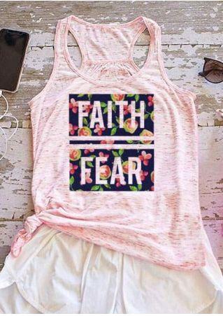 Faith Fear Débardeur Floral Racerback