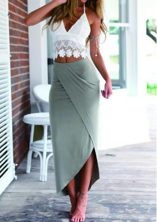 Lace Camisole+Long Skirt Outfit