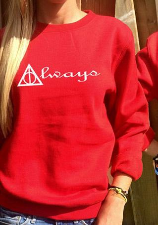 Letter Long Sleeve Jumper