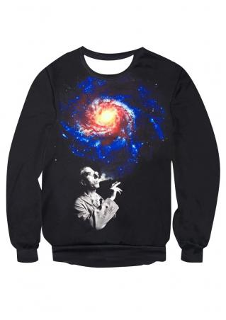 Starry Sky Man Printed Sweatshirt