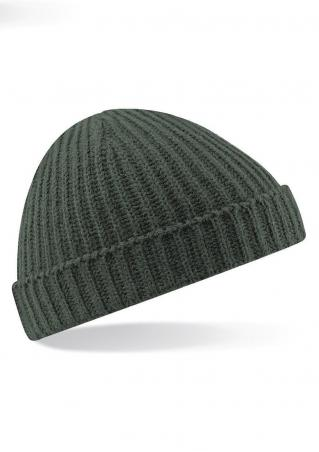 Solid Short Turn Up Knit Hat