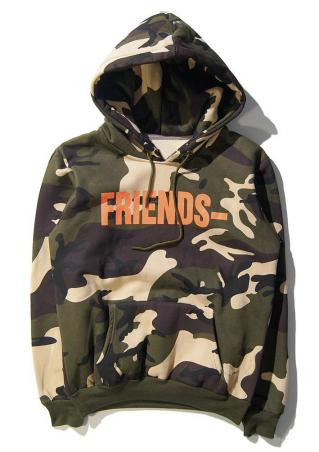 Friends Camouflage Drawstring Hoodie