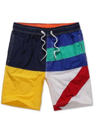 Drawstring Pocket Plus Size Shorts