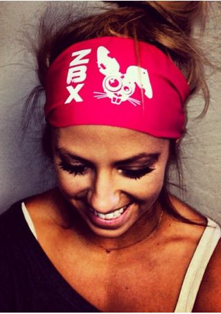 ZBX Bunny Printed Elastic Headband