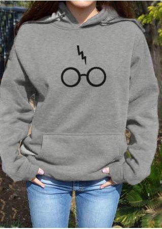 Harry Potter Glasses Letter Hoodie