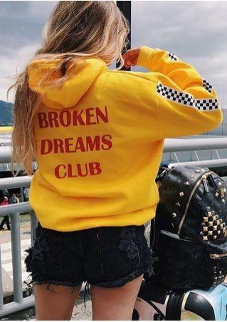 Broken Dreams Club Sweat à Capuche à Carreaux