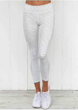 Pantalon de Sport Rayé Jointif Extensible