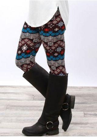 Leggings Imprimé Taille Élastique