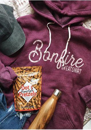 Bonfire Sweatshirt Sweat à Capuche de Poche avec Cordon