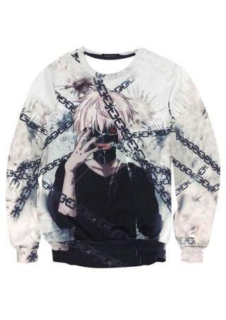 Sweat-shirt Caractère de Tokyo Ghoul Tmprimé