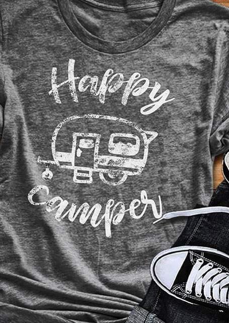 Happy Camper T-Shirt Manches Courtes